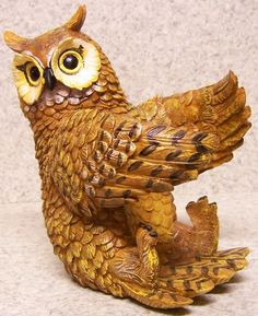Wine Bottle Holder and or Decorative Sculpture Owl New