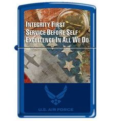 Zippo Lighter- Air Force Integrity, Service, Excellence