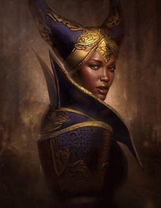 Madame de Fer (Dragon Age: Inquisition - Vivienne) - by Gerry Arthur Black Women Art, Black Art, Art Women, Character Portraits, Character Art, Character Ideas, Cyberpunk, Dragon Age Series, Drawn Art
