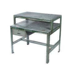 Vintage Industrial Steel Desk in Green - $650 Est. Retail - $195 on Chairish.com