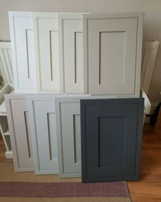 These are the HELMSLEY cabinet sample doors I ordered from I'm planning to order an in-frame kitchen but needed to… Kitchen Cupboard Colours, Kitchen Pantry Cabinets, Kitchen Doors, Painting Kitchen Cabinets, Kitchen Paint, Home Decor Kitchen, Country Kitchen, Refinished Kitchen Cabinets, Coloured Kitchen Cabinets
