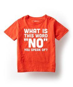 Look at this #zulilyfind! Orange 'What Is This Word' Tee - Toddler & Kids #zulilyfinds