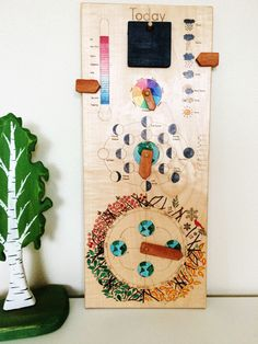 Perpetual calendar - 2018 wall calendar - wooden perpetual calendar - wood calendar - modern perpetual calendar - gift for kids by MirusToys on Etsy https://www.etsy.com/listing/476131438/perpetual-calendar-2018-wall-calendar