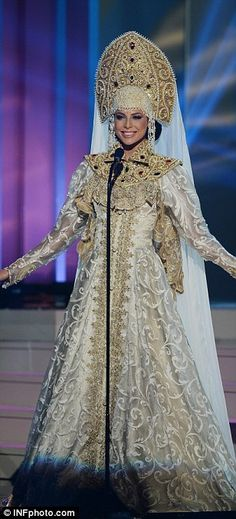 Miss Russia wore a dress inspired by the Byzantine era...