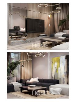 Small apartment in modern style. on Behance Living Room Grey, Living Room Modern, Living Room Furniture, Living Room Decor, Living Rooms, Apartment Interior, Interior Design Living Room, Salon Interior Design, Living Room Designs