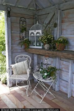Use an old beam from one of the scrap pile to make a shelf.
