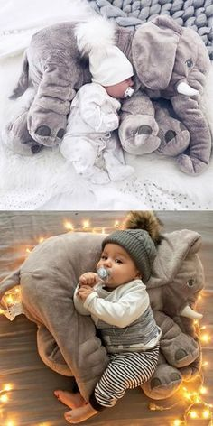 large elephant pillows cushion baby plush toy stuffed animal kids gift in Baby, Toys for Baby, Plush Baby Toys Plush Elephant Pillow Toy Kinsky Lea kinskylea Antonia weihnachtskalender large elephant pillows cushion baby plush toy stuffed animal ki So Cute Baby, Baby Kind, Baby Love, Cute Babies, The Babys, Cute Baby Pictures, Newborn Pictures, Elephant Stuffed Animal, Baby Stuffed Animals