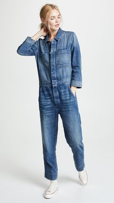Find and compare Skip Jumpsuit across the world's largest fashion stores! All Jeans, Denim Jeans, Denim Jumpsuit, Jumpsuit Style, Dungarees, Fashion 101, Ladies Fashion, Denim Fashion, Womens Fashion