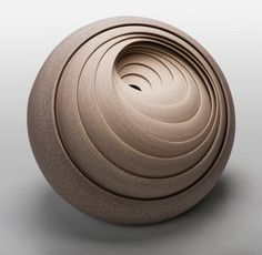 Ceramic sculpture in abstract style. Matthew begins his artistic career back in 1993, when together with Philip Wood he starts to create tableware.