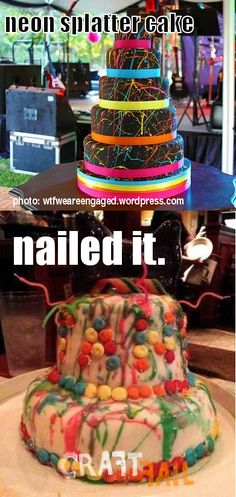 I'm pinning this for the splatter cake, not the fail Pin Fails, Funny Fails, Foto Fails, Splatter Cake, Cooking Fails, Fail Nails, Pinterest Fails, Pinterest Projects, Pinterest Funny