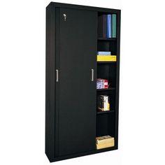 Sandusky Sliding 2 Door Storage Cabinet Color: Black