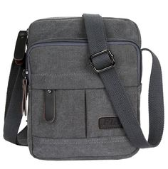 efecb0cb9675 Chickle Mens Grey Canvas Shoulder Postman Bag     Read more at the image  link. Travel Bags