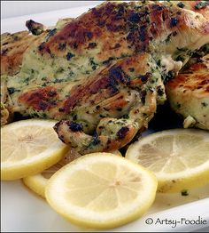 Recipe for Cilantro Thai Grilled Chicken - It's hard to believe that such a simple marinade could bring out so much flavor and keep a common, bland chicken breast so moist.