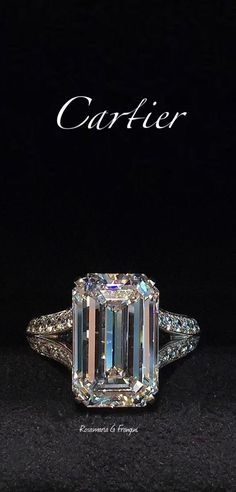 The Chic Technique: Cartier Diamond Emerald Cut Engagement Ring Jewelry Box, Jewelry Accessories, Fine Jewelry, Jewelry Stores, Gold Jewellery, Baby Jewelry, Jewelry Rings, Fashion Accessories, Jewelry Websites