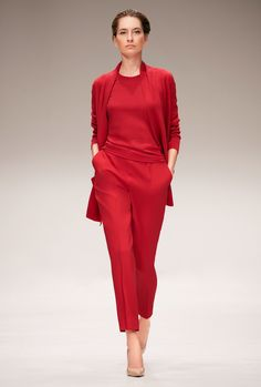 Escada, Look #5  Clean presentation, timeless simplicity, bold color pallete, flattering/clean tailoring