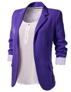 cheap purple blazers for women