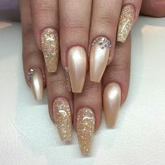 Champagne nails                                                                                                                                                                                 More