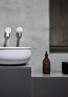 A look at Norm Architects' brand new 'Prime' bathroom suite, designed for Spanish brand Inbani and influenced by antique metal tubs. Bathroom Spa, Modern Bathroom, Bathroom Ideas, Bathroom Vanities, Sinks, Master Bathroom, Bathroom Furniture, Bathroom Interior, Shelf Furniture