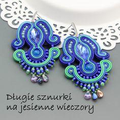 Sutasz | Royal-Stone blog  Kolczyki dutasz tutorial  Soutache earrings tutorial