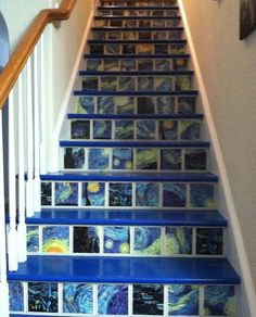 Beautiful Wall Painting Ideas That So Artsy. This post will give you 65 gorgeous wall painting ideas that so artsy. You aren t limited to light neutral colors in your tiny home when you know how to choose the right paint colors. Arte Van Gogh, Van Gogh Art, Vincent Van Gogh, Beautiful Wall, Beautiful Homes, Van Gogh Paintings, Stairways, Future House, Sweet Home