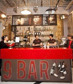9Bar Coffee branding by Reluctant Hero, Newcastle hotels and restaurants branding