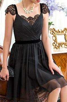 Black lace dress would be cute a as a short bridesmaid dress...