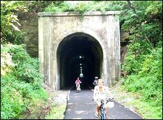 A Rails to Trails thru Meredith Tunnel on the MCTrail between Prickett's Fort State Park and Fairmont, West Virginia