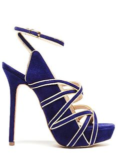 One of my biggest weaknesses is cobolt blue! And these are no exception. I adore the straps and they look pretty comfortable for heels too.