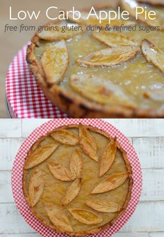 Healthy Four Ingredient Gluten Free, Flourless Paleo Apple Pie. A quick, easy and delicious recipe - NO grains, gluten, dairy or refined sugars.