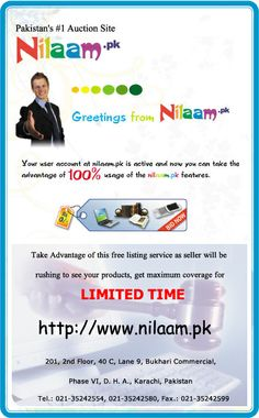 Flyer made for nilaam.pk, sister firm of IQOCIK