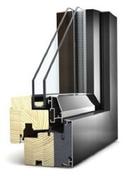 FUSION: Entry Level Timber Composite window designed to incorporate either Double or Triple Glazing, still utilising Internorm Unique Fix-O-Round technology and Triple Gasket system the Fusion window can achieve U-Values as low as 0.85W/m2k