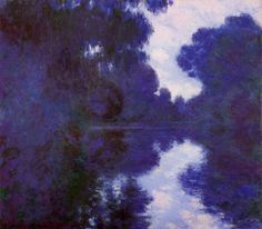 9 versions of Morning on the Seine, by Claude Oscar Monet c. 1897