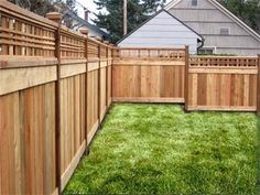 Inexpensive alternative design for craftsman style privacy for Craftsman style fence