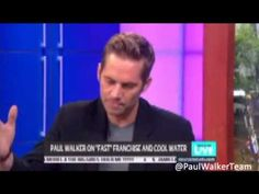"Paul Walker On ""Fast"" Franchise And Cool Water"
