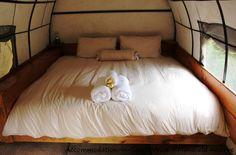 Elegant lodging to rustic camping/caravan. Sunshine Coast, Lodges, Caravan, Camping, Rustic, Elegant, Bed, Travel, Furniture