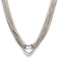 Multi-Strand Heart Necklace