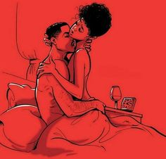 Knowledge of Self: Photo Sexy Black Art, Black Girl Art, Black Women Art, Black Couple Art, Black Couples, Black Love Artwork, Beautiful Artwork, Black Relationship Goals, Exotic Art