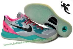 Nike Zoom Kobe VIII 8 Grey Jade Pink Basketball Shoes Style 555035 714 Balance