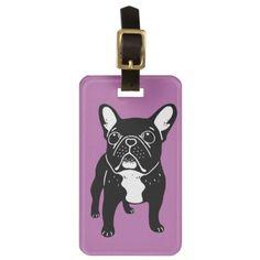 #Super cute brindle French Bulldog Puppy Bag Tag - #bulldog #puppy #bulldogs #dog #dogs #pet #pets