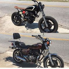 Only one word to describe this Honda CM400 Before and After from @drakespeedshop: WOW! Thanks for the tag, guys.  _____________________________________  #beforeandafter #custommotorcycle #DIY #motorcycle #honda #dimecitycycles