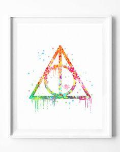 Digitaldruck   Harry Potter, Zauber, Immer Zitat Schlafzimmer Dek   Ein  Designerstück Von Watercolorart
