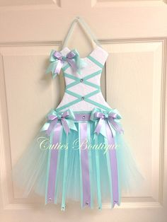 Tutú de la lavanda Aqua vestido pelo arco por CutiesBoutique