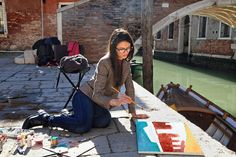 Art lesson in Venice Painting Courses, Art Courses, Venice Painting, Painting Art, Drawing Lessons, Art Lessons, Creative Workshop, Venice Italy, Art School