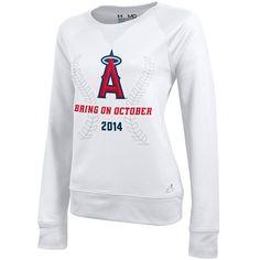 Los Angeles Angels of Anaheim Women's Bring On October Crewneck Fleece - MLB.com Shop//SUPER CUTE!