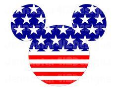 Disney Inspired Mickey Flag Patriotic 4th of July DIY Printable Iron On Transfer Digital File on Etsy, $2.00