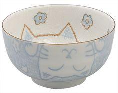 Oriental Bowl for Children - Kitty Series - Blue Bowl - 13x7cm