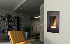 Ventless Fireplace Design, Pictures, Remodel, Decor and Ideas - page 3 Kozy Heat, Contemporary Gas Fireplace, Wall Mounted Fireplace, Fireplace Design, Basement, Interior Design, Bedroom, Gas Fireplaces, House