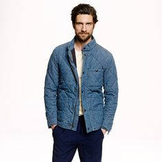 Broadmoor quilted jacket in Japanese chambray - Quilted Jackets - Men's Men_Feature_Assortment - J.Crew