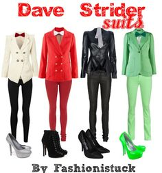 dave strider suits homestuck---I'd prefer to wear them with flats or combat boots though.