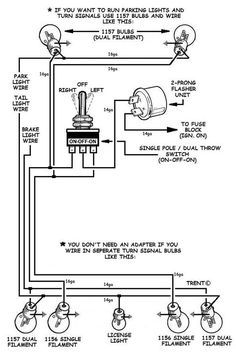 How To Add Turn Signals And Wire Them Up The Basics Electrical Circuit Diagram Motorcycle Wiring Trailer Wiring Diagram